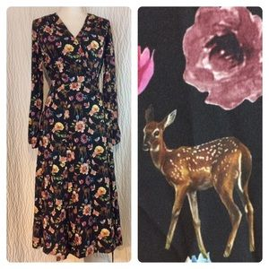 New EShakti Woodland Creature Wrap Dress S 6